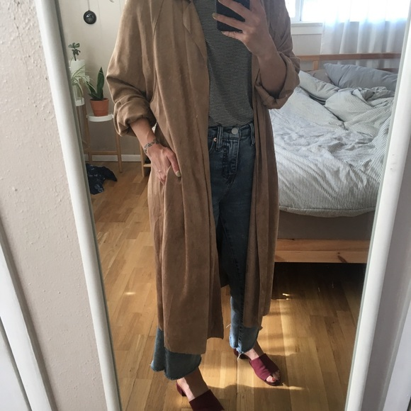 Anthropologie Jackets & Blazers - NWT Faux suede no closure kimono